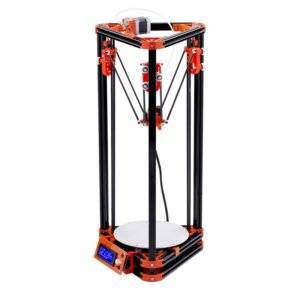 FLSUN_A 3D Printer Delta Kossel DIY Kit with Large 3D Printing Size Updated Nuzzle System Heated Bed Auto Leveling