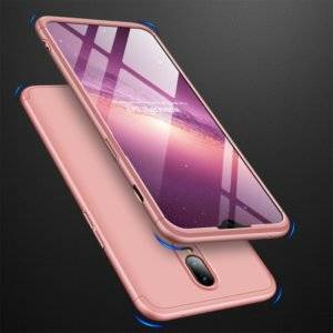 GKK Three Stage Splicing Full Coverage PC Case for OnePlus 6T (Rose Gold)