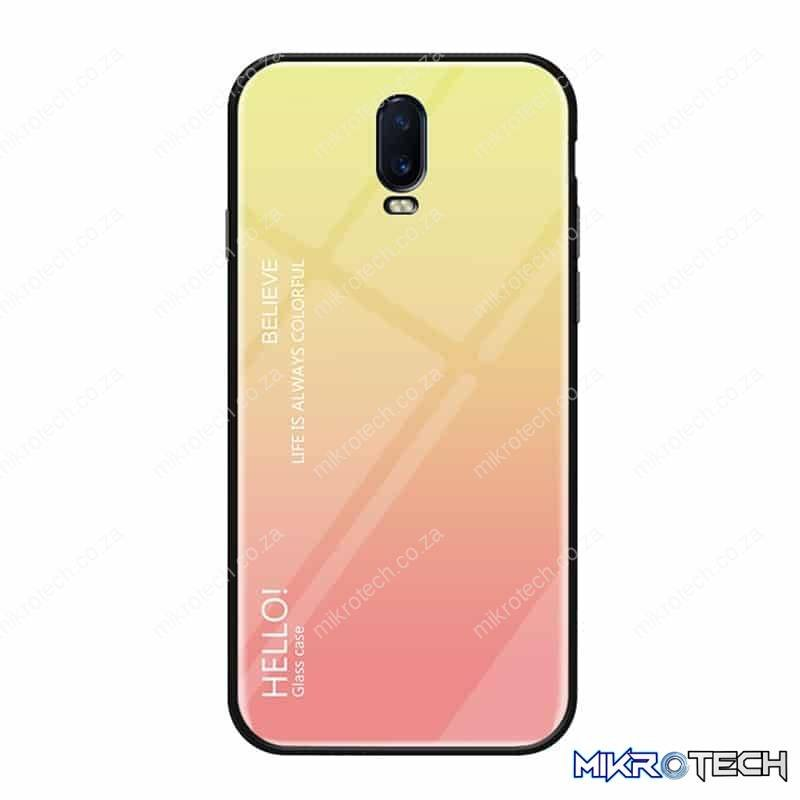 Gradient Color Glass Case for OnePlus 6T