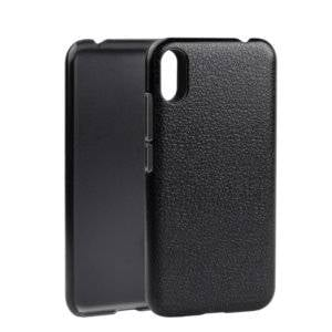 Litchi Texture PC Back Case for Blackview A30(Grey)