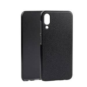 Litchi Texture PC Back Case for UMIDIGI One Pro(Grey)