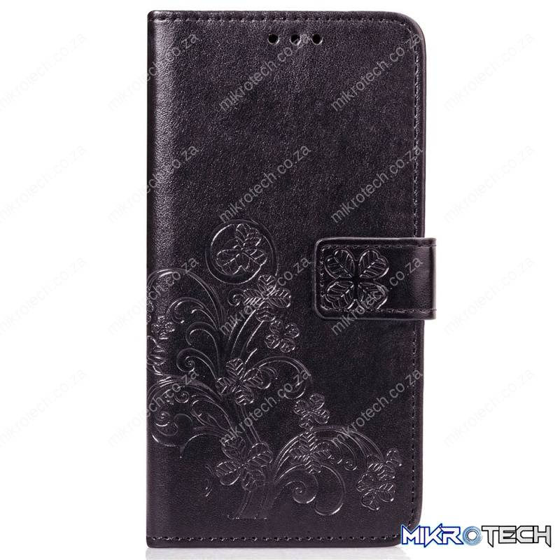 with Holder & Card Slots & Wallet & Hand Strap (Black)