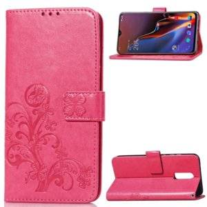 Lucky Clover Pressed Flowers Pattern Leather Case for OnePlus 6T