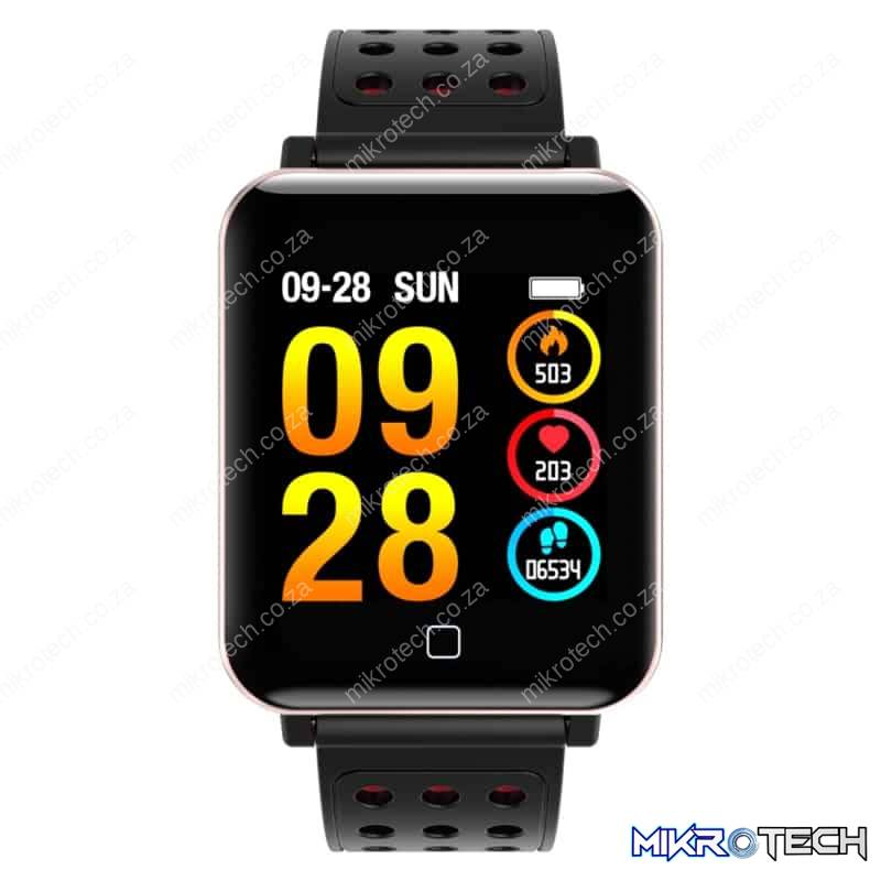 Support Sports Mode / Sleep Monitor / Blood Oxygen / Pressure / Heart Rate Monitor(Black + Red)