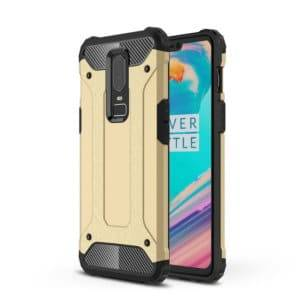 Magic Armor TPU + PC Combination Case for OnePlus 6(Gold)