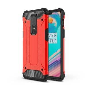 Magic Armor TPU + PC Combination Case for OnePlus 6(Red)