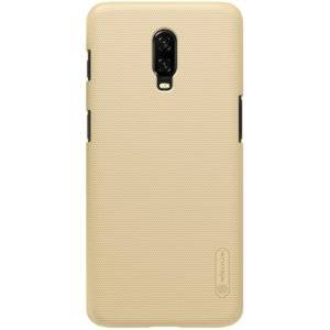 NILLKIN Frosted Concave-convex Texture PC Case for OnePlus 6T (Gold)