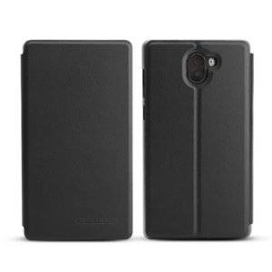 OCUBE for Leagoo Kiicaa Mix (MPH4355B) Spring Texture Horizontal Flip Leather Case with Holder(Black)