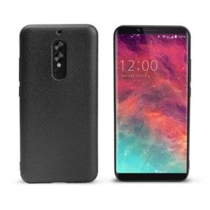 OCUBE for UMIDIGI S2 (MPH1936) Litchi Texture Solid Color Metal Paint TPU Protective Back Cover(Black)
