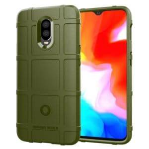 Shockproof Protector Cover Full Coverage Silicone Case for OnePlus 6T(Army Green)