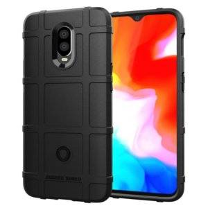 Shockproof Protector Cover Full Coverage Silicone Case for OnePlus 6T(Black)