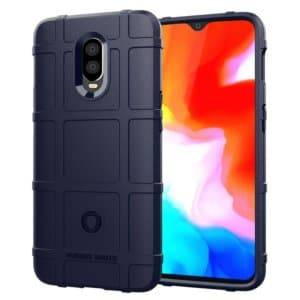 Shockproof Protector Cover Full Coverage Silicone Case for OnePlus 6T(Dark Blue)