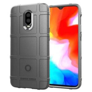 Shockproof Protector Cover Full Coverage Silicone Case for OnePlus 6T(Grey)