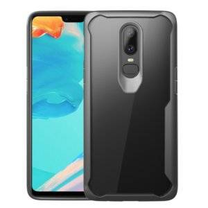 Transparent PC + TPU Full Coverage Shockproof Protective Case for OnePlus 6 (Grey)