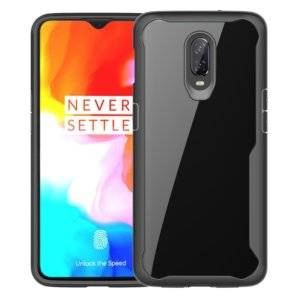 Transparent PC + TPU Full Coverage Shockproof Protective Case for OnePlus 6T (Black)