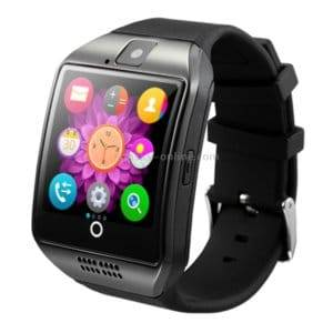 Q18 1.54 inch TFT Screen MTK6260A 360MHz Bluetooth 3.0 Smart Bracelet Watch Phone with Pedometer & Sleeping Monitor & Calculator & Call Reminder & SMS / Wechat Alerts & Clock Display & Synchronous Music Play Call Answer & Recording & Alarm & Remote Camera Function, Support SIM Card & 32GB SD Card, 128M + 64M Memory(Black)