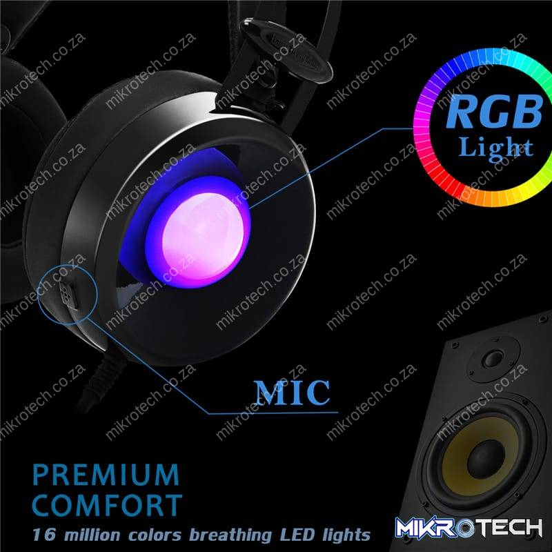 COMBATERWING M170 3.5mm Stereo HIFI Over-ear Gaming Headphone Headset With Mic