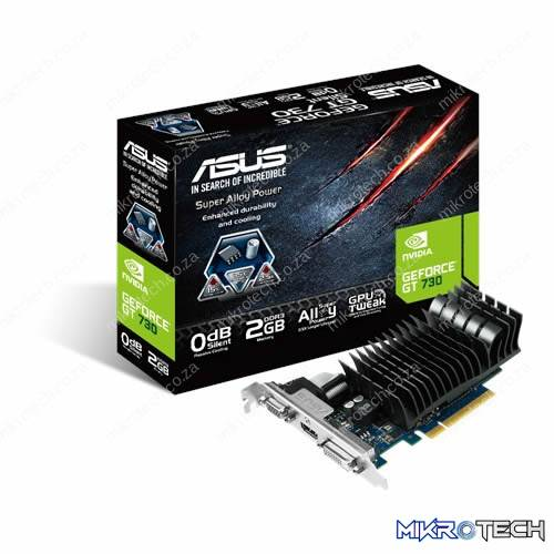 Asus NVidia GeForce GT 730 2GB DDR3 Graphics Card