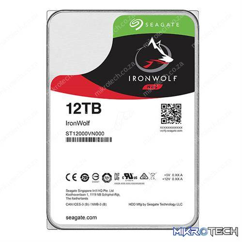 Seagate IronWolf 12TB 256MB Cache 3.5 inch Internal NAS Hard Disk Drive