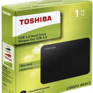 Toshiba Canvio Basics 1TB Portable 2.5 inch USB Powered External Hard Drive