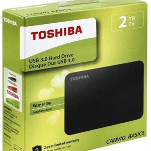 Toshiba Canvio Basics 2TB Portable 2.5 inch USB Powered External Hard Drive
