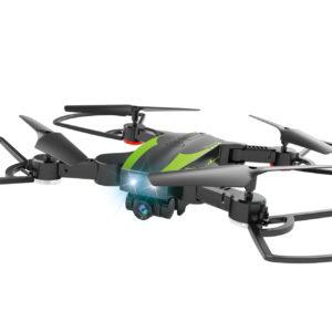 HELICUTE Aviator Folding Drone - Black and Green