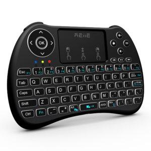 Reiie Wireless QWERTY Backlit Media Touchpad Keyboard Blac