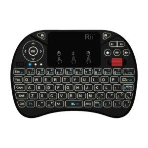 Rii QWERTY RGB Backlighting Media Touchpad with Scroll Wheel Black