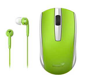 Genius MH-8100 Wireless Mouse and Wired Earphone Combo