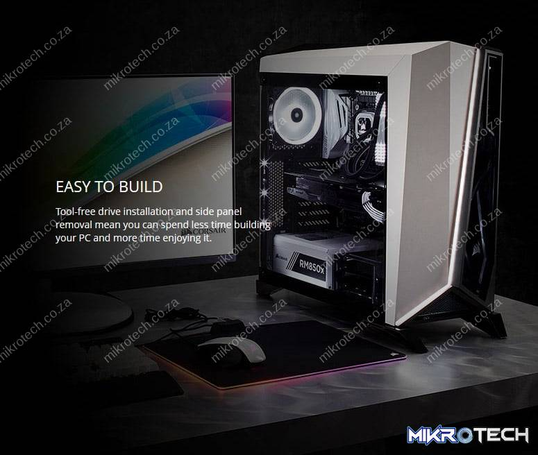 CORSAIR Carbide Series SPEC_OMEGA Mid_Tower Tempered Glass Gaming Case_ Black CC_9011121_WW_001