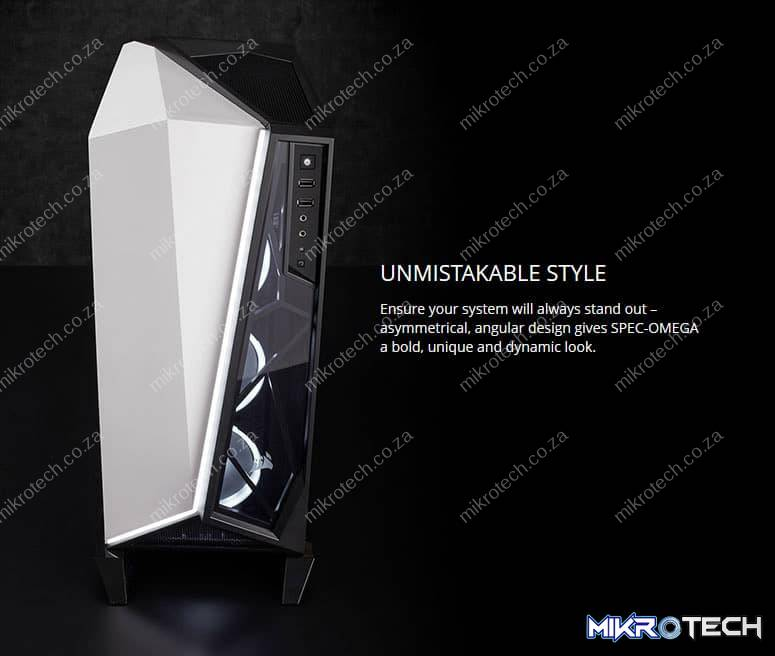 CORSAIR Carbide Series SPEC_OMEGA Mid_Tower Tempered Glass Gaming Case_ Black and White C (5)