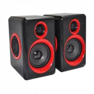 2.0 Black & Blue USB Speakers