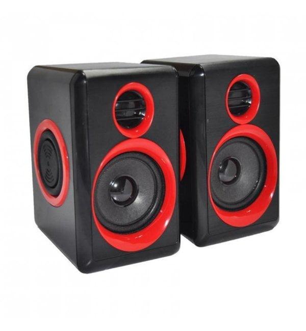 2.0 Black & Blue USB Speakers