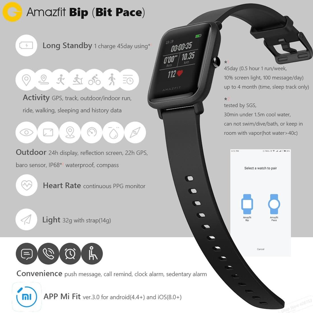 Xiaomi Amazfit Bip Lite Smartwatch