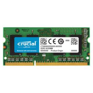 Crucial 4GB DDR3L 1600MHz SO-DIMM Single Rank