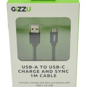 Gizzu USB2.0 A to USB-C 1m Cable Black