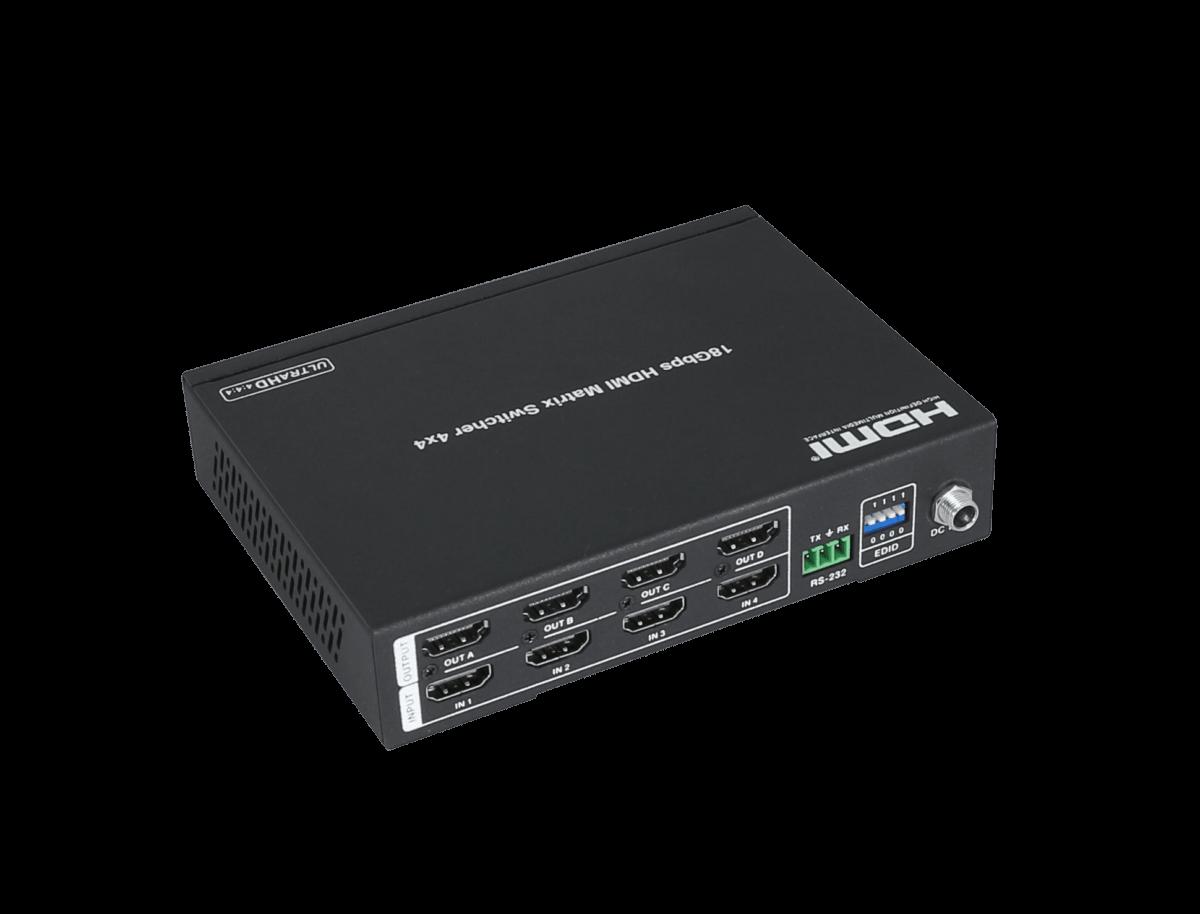 HDCVT 4x4 HDMI2.0 Matrix Switch