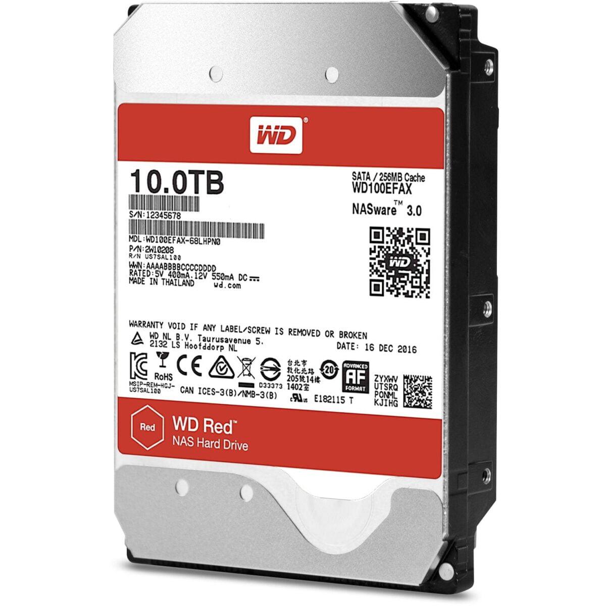 Western Digital Red 10TB 3.5 SATA 256MB