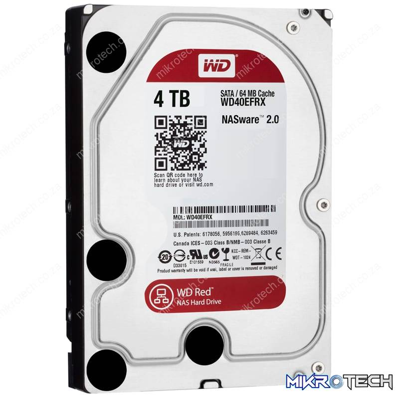 Western Digital Red 4TB 3.5 SATA 64MB