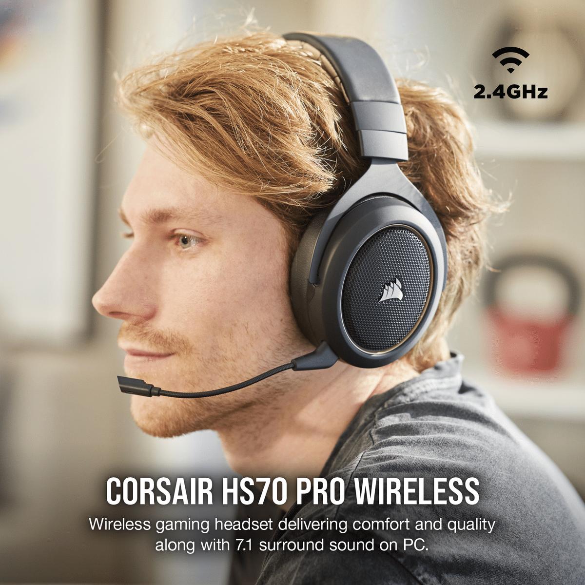Corsair HS70 Pro Wireless Gaming Headphones With Mic