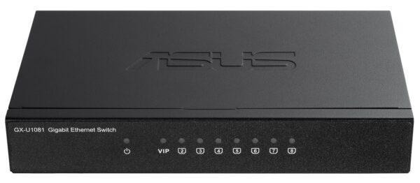 ASUS GX-U1081 8-Port Gigabit Unmanaged Switch with VIP Port