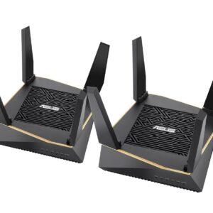ASUS RT-AX92U AiMesh AX6100 Tri-Band WiFi 6 Mesh Network System - 2 Pack