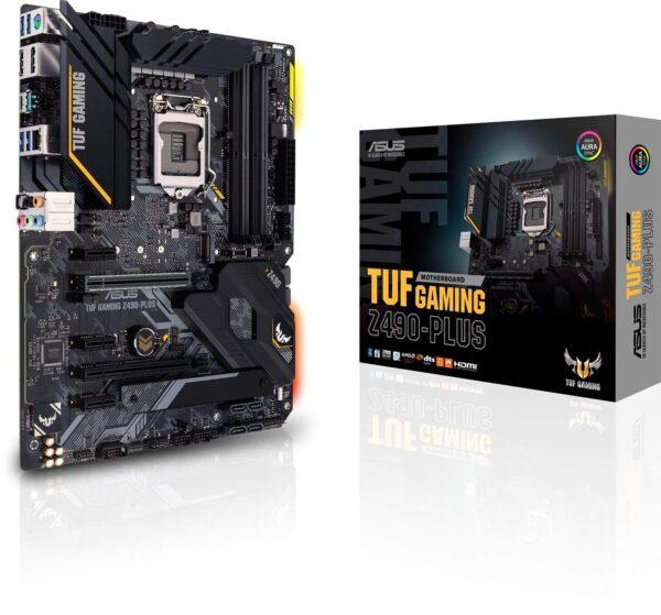 ASUS TUF Gaming Z490-Plus Intel Z490 Comet Lake LGA1200 ATX Desktop Motherboard