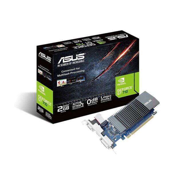 Asus GeForce GT710-SL-2GD5-BRK 2GB GDDR5 64-Bit PCI Express 2.0 Passive Desktop Graphics Card