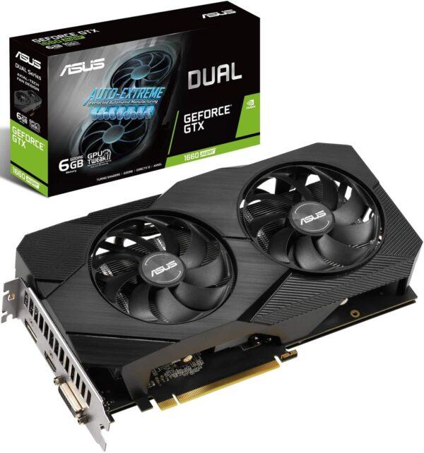 Asus GeForce GTX 1660 SUPER Dual EVO OC DUAL-GTX1660S-O6G-EVO 6GB GDDR5 192-bit PCI-E 3.0 Desktop Graphics Card