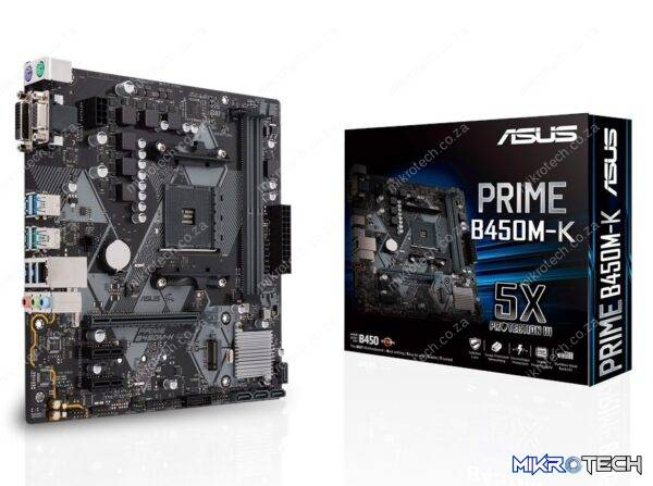 Asus PRIME B450M-K AMD B450 Ryzen Socket AM4 Micro-ATX Desktop Motherboard