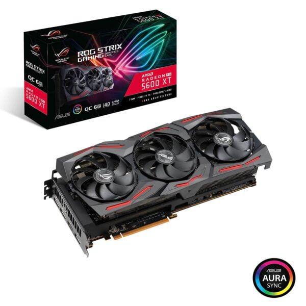 Asus Radeon RX 5600 XT ROG Strix Gaming OC ROG-STRIX-RX5600XT-O6G-GAMING 6GB GDDR6 192-bit PCI-E 4.0 Desktop Graphics Card