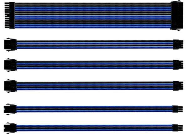 Cooler Master CMA-SEST16BLBK1-GL 30cm Blue Universal Sleeved Extension Cable Kit