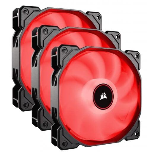 Corsair AF Series AF120 LED Low Noise Red Triple Pack Case Fans