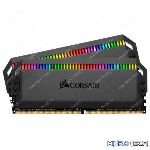 Corsair Dominator Platinum RGB 16GB (2x8GB) DDR4-3200MHz CL16 1.35V 288-Pin Black Desktop Memory